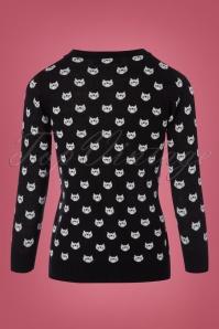 Mak Sweater Cats Cardigan in Black 140 14 23265 20170929 0010w
