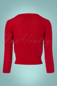 Mak Sweater Cropped Red Cardigan 140 20 23264 20170929 0007w