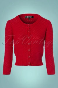 Mak Sweater Cropped Red Cardigan 140 20 23264 20170929 0001w
