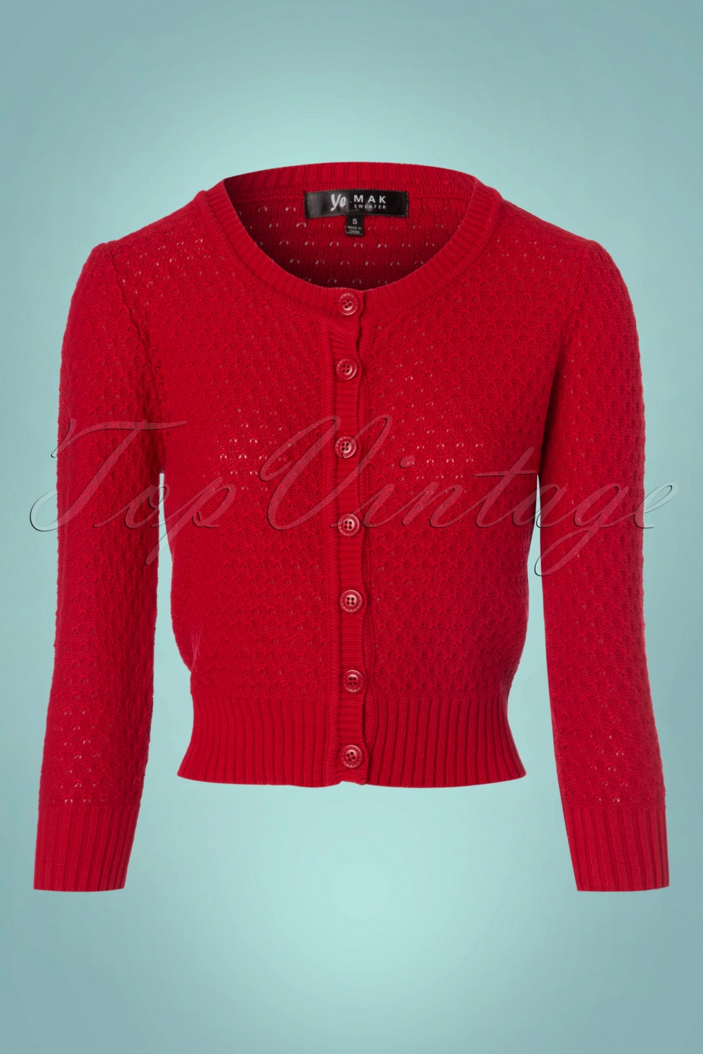 50s Jennie Cardigan in Red