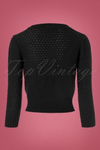 Mak Sweater Cropped Black Cardigan 140 10 23263 20170929 0003w