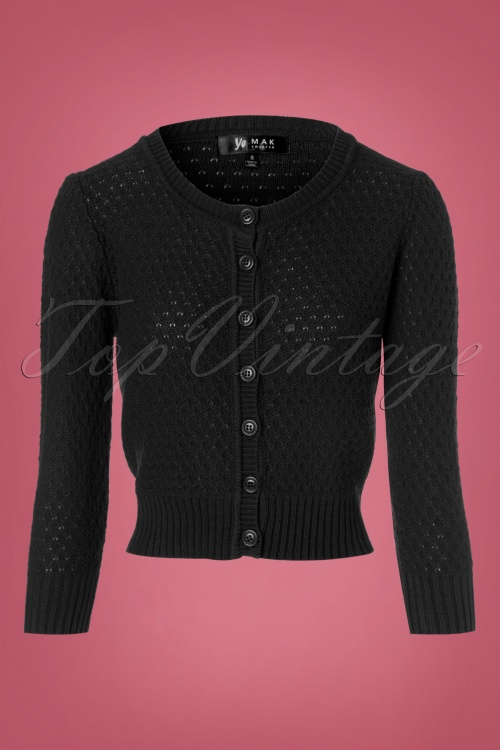 Mak Sweater Cropped Black Cardigan 140 10 23263 20170929 0001w