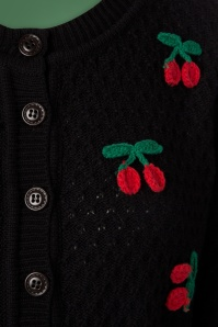 Mak Sweater Cherry Cardigan in Black 140 14 23262 20170929 0006