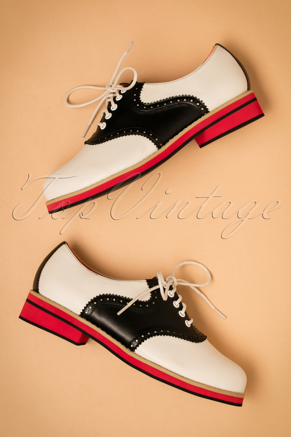 Vintage Style Shoes, Vintage Inspired Shoes 60s Old Soul Dancer Shoes in White and Black £52.45 AT vintagedancer.com