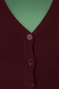 Mak Sweater V neck Cropped Cardigan inBurgundy 140 20 23273 20171002 0004a