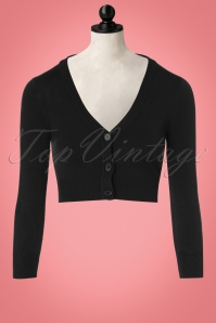 Mak Sweater 50s Shela Cropped Cardigan in Black