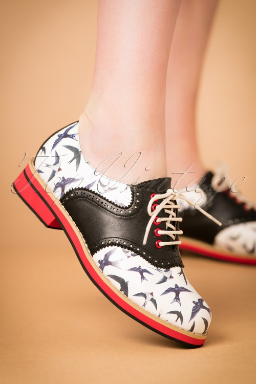 Dancer Black Swallow And 60s Old Shoes In Soul White Nn0mOv8w