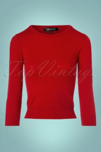 Mak Sweater Uni Sweater in Tomato Red 113 20 23269 20171002 0002w