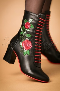 Dancing Days banned Fantasy Boots in black 430 10 22449 27092017 002W