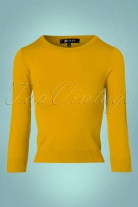 Mak Sweater Uni Sweater in Honey Yellow 113 80 23267 20171002 0003w