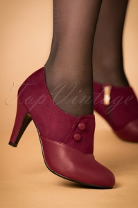 50s Maria Booties in Burgundy