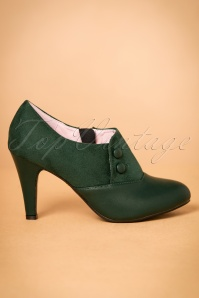 50s Maria Booties in Vintage Green