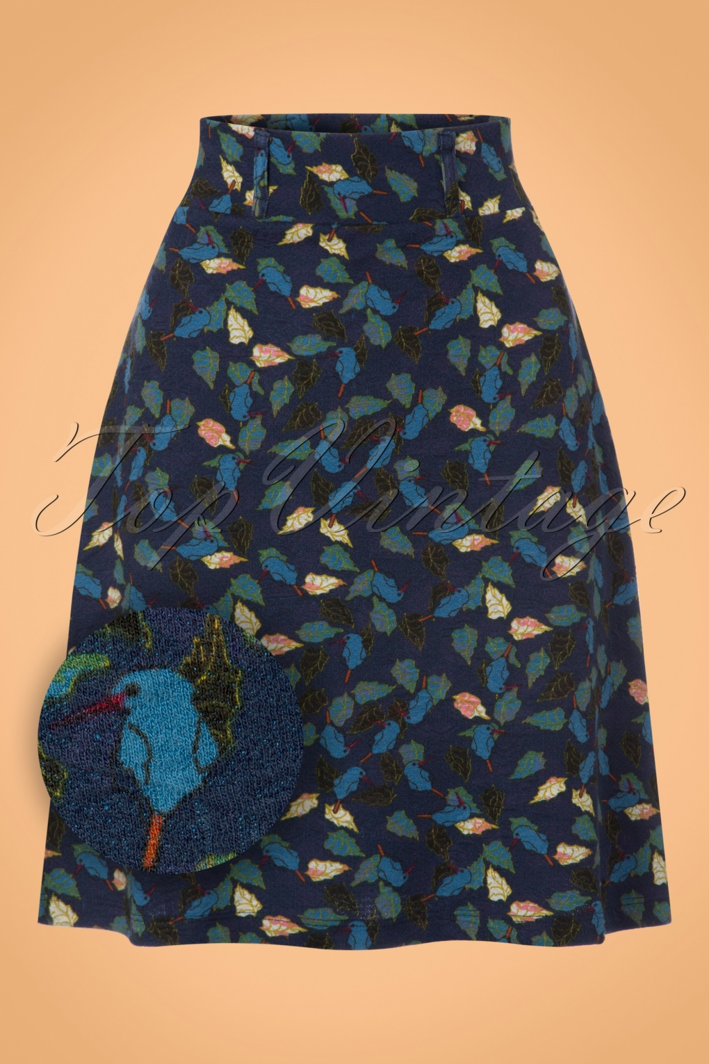 Retro Skirts: Vintage, Pencil, Circle, & Plus Sizes 60s Freeze Skirt in Blue £53.34 AT vintagedancer.com