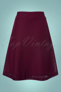 Wow To Go! Gul A Line Skirt in Aubergine 123 60 21613 20171002 0010w