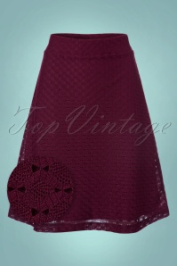 Wow To Go! Gul A Line Skirt in Aubergine 123 60 21613 20171002 0004wv