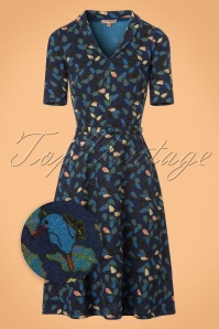 60s Cold Dress in Blue