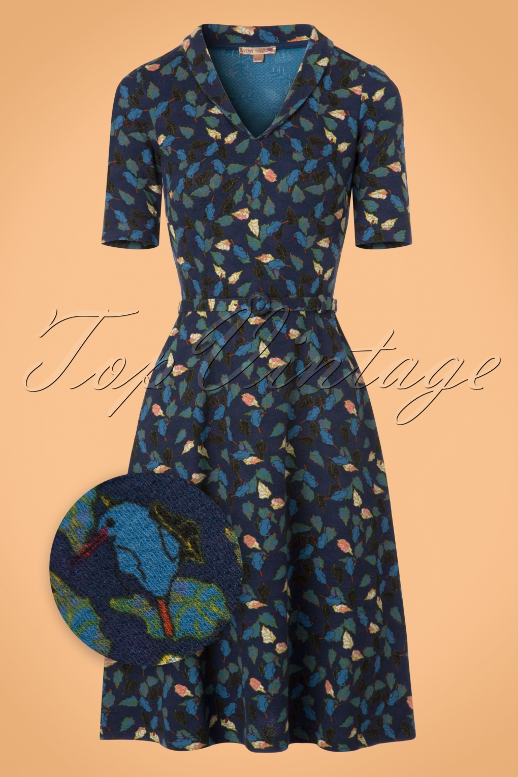 1960s – 70s Dresses- Retro Inspired Fashion 60s Cold Dress in Blue £88.94 AT vintagedancer.com