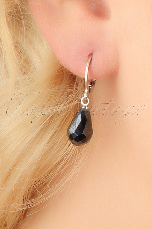 Glamfemme Hematite earrings 333 92 23005aW