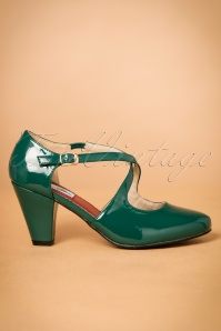 Lulu Hun Lucille Pumps green 401 40 21704 27092017 009W