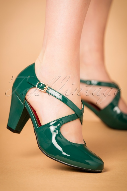 Lulu Hun Lucille Pumps green 401 40 21704 27092017 001W