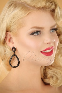 glamfemme Black earrings 333 10 23000W
