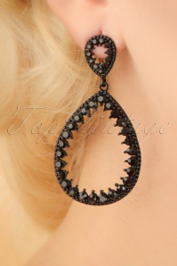 20s Helen Earrings in Black