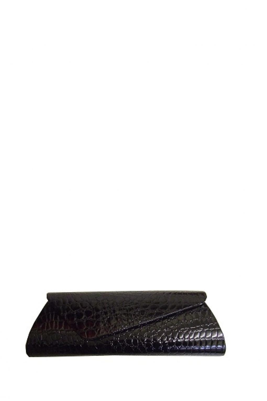 Schoudertas Zwart Lak : S trixie croc black clutch handtas schoudertas