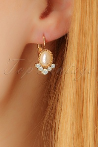 30s Paloma Pearl Earrings in Gold