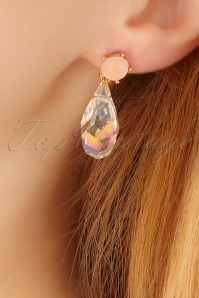 Glamfemme Pink crystal earrings 333 22 22983aW