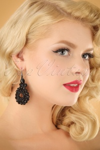 Glamfemme Black earrings 333 10 22986W