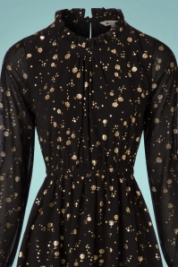 Yumi Ditsy Golden Flower Dress in Black 102 14 21917 20171004 0011c