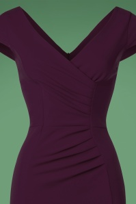 Vintage Chic Scuba Crepe Aubergine Pencil Dress 100 60 22689 20170123 0021c