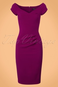 Vintage Chic Candace Dress in Magenta 100 22 22928 20171004 0002w