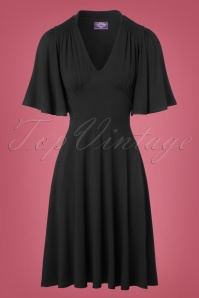 TopVintage Boutique Collection High Density Viscose Dress in Black 102 10 22455 20171004 0003w
