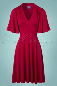 TopVintage Boutique Collection High Density Viscose Dress in Red 102 20 22456 20171004 0003w