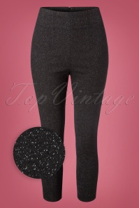 50s Nebula Capris in Black