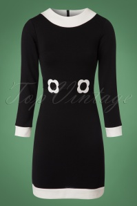 Marmelade Jersey Dress in Black and White 106 10 22724 20171004 0002w