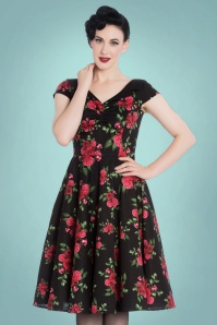 Bunny Croisette 50s Roses Swing Dress 102 14 22609 20171005 0016