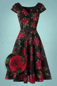 Bunny Croisette 50s Roses Swing Dress 102 14 22609 20171005 0008wv