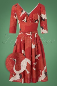 Victory Parade Red Crane Bird Dress 102 27 23161 20171005 0002wv