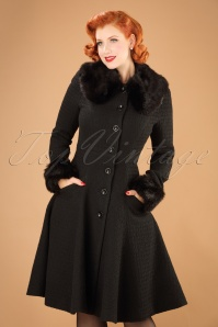 Collectif Clothing Alise Swing Coat In Black 21715 20170609 0007w