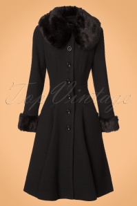 Collectif Clothing Alise Swing Coat In Black 21715 20170609 0002w