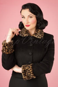Collectif Clothing Marianne Leopard Faux Fur Trim Jacket 21744 20170609 0010w