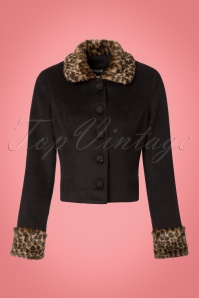 Collectif Clothing Marianne Leopard Faux Fur Trim Jacket 21744 20170609 0003w