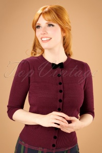 Collectif Clothing Layla Cardigan in Wine 21813 20170609 0011w