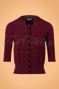 Collectif Clothing Layla Cardigan in Wine 21813 20170609 0005w
