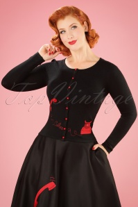 Collectif Clothing Jo Telephone Cardigan in Black 21776 20170607 002w