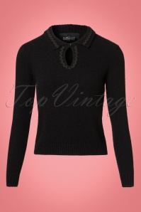 Collectif Clothing Fatima Jumper in Black 21818 20170609 0004w
