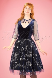 Collectif Clothing Belle Stardust Bolero in Navy 21709 20170607 00010w