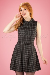 Bright and Beautiful Ruth Flared Tweed Dress in Grey 21679 20170613 0012w